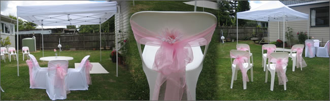 Hire chair sashes for just $1.50 each