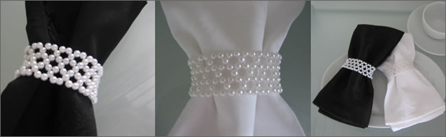 Napkin ring  hire for weddings and events, Auckland