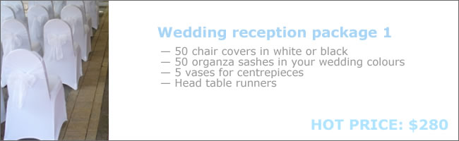 Chair cover hire package deal 1
