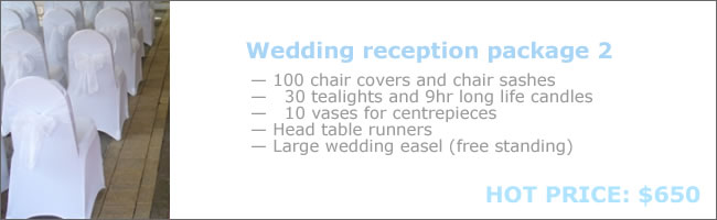 Chair cover hire special package deal 2